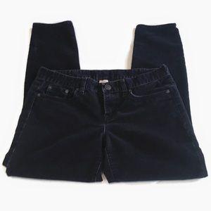 J. Crew Navy Soft Fine-Wale Corduroy Skinny Pants